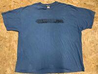 Vintage Harley Davidson STURGIS SOUTH DAKOTA Graphic T Shirt Tee - Blue 3XL XXXL
