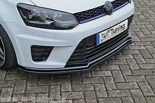 Acción especial alerón espada Front alerón labio ABS para VW Polo 6r WRC con Abe