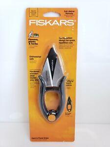 Fiskars Stainless Steel Herb & Floral Snips Gray
