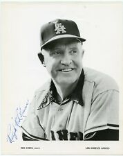 RALPH RED KRESS Signed 8x10 Photo 1961 Angels Team Issue PSA Guarantee