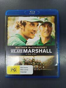 WE ARE MARSHALL , Blu-Ray.  (VGC) Matthew McConaughey - Free Postage.