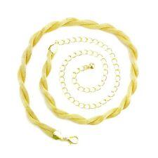Oro Intrecciato Serpente Donne Sottile Catenina Da Girovita Cintura Di Fascino