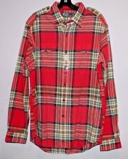 Polo Ralph Lauren Mens Red Madras Chest Pocket Button-Front Shirt NEW $98 Size S