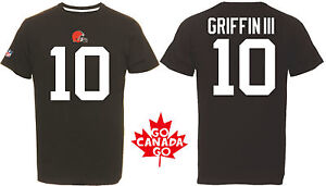 NFL Football T-Shirt Cleveland Browns Robert Griffin Jr. III RG3 Jersey Receiver