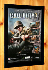Call of Duty 3 Rare Small Poster / Old Ad Page Framed PlayStation 2 Xbox Wii PS3