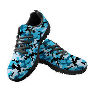Camouflage Men Sneaker Casual Lightweight Shoes Platform Coloful Lace Up Trainer