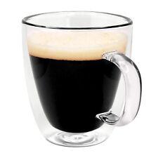 Double wall Glass Mug, Insulated Coffee Cup (12 oz, 350ml)
