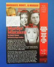 THEATRE FLYER MURDER MISTAKEN SIGNED BY GABY ROSLIN