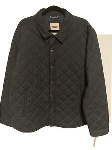 Levi's Men's Cotton Diamond Quilted Shirt Jacket NWT Navy Size XX-Large XXL