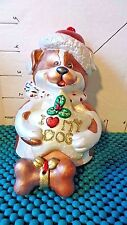 """Christmas Ornament, Dog, """"I Love My Dog"""", Bell, Feet And Bone Are Clanger"""