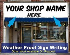 Shop Front Fascia Vinyl Graphic Signs Name Decals Sign Writing Size 2.5m x 0.6m