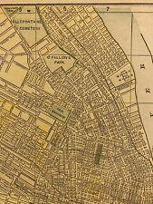 1892 ST LOUIS Map 13.5 x 11