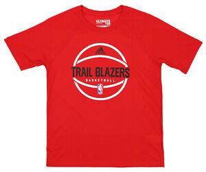 Adidas NBA Youth Boys (8-20) Portland Trail Blazers Ultimate Tee Shirt, Red