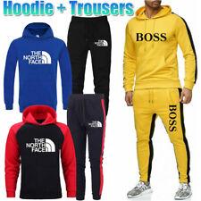 Men's Tracksuit Set Hoodie Sweatshirt Trousers Sport Tops Bottoms Jogging Suit
