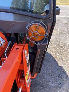 "Kubota Tractor 4"" Amber Wire Light Guard"