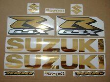 GSXR 1000 chrome gold custom decals stickers graphics kit set golden k7 k9 l1 l3