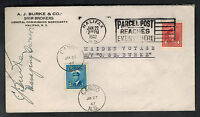 1947 Canada Cover Maiden Voyage MV C & E Burke to Halifax Canso Purser Signed