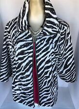Studio Works 2X Black & White Zipper Jacket New Cond
