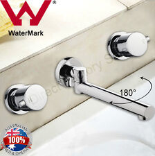180° Swivel Bathtub Water Spout W taps Faucet Set Wall Mounted Brass Watermarked