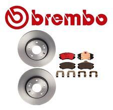Front Rotors & Pads Brake KIT Brembo/Akebono for Hyundai Tiburon 2003-2007