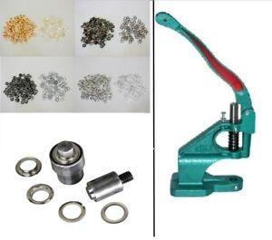 Ösen Presse PN Handpresse +  Werkzeug 14mm +  Ösen 14mm Auswahl (st. farbe)