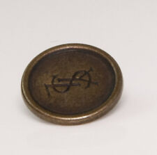Org YSL Yves Saint Laurent metal Replacement main coat button .75""