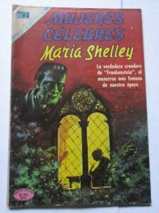 MUJERES comic MARY SHELLEY gothic novel FRANKENSTEIN monster creator WRITER vtg