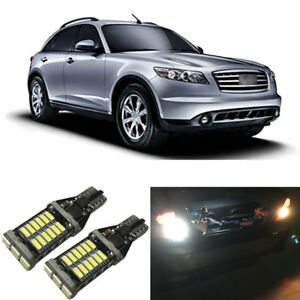White LED 921 W16W Backup Reverse Light Bulbs For 2003-2008 Infiniti FX35 FX45