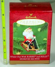 Hallmark Keepsake Ornament - Winter Fun With Barbie and Kelly - 2000