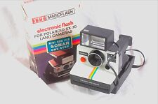 Polaroid SX-70 rainbow version with electronic flash