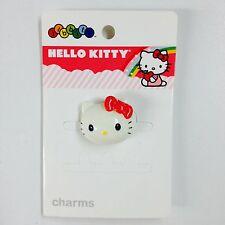 NEW Crocs Kids Hello Kitty 3D White Face Fuchsia Pink Bow Jibbitz Shoe Charm