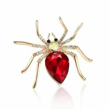 Red Spider Rhinestone Women Fashion Jewelry Gift Pin Brooch