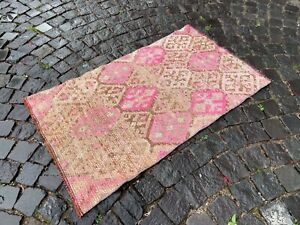 Vintage from the 1960s, % 100 wool Turkish rug, Bohemian rug | 2,3 x 3,9 ft