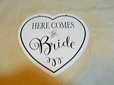 """Décor Wall Plaque ~ """"Here Comes The Bride� other side """"They Lived Happily …�"""