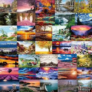 Natural Scenery DIY Paint By Numbers Canvas Kit Digital Oil Painting Home Decor