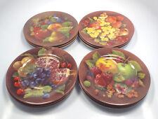 "Porcelaine de Limoges France French Home 12 Fruit Motif Plates, 7 1/4"""