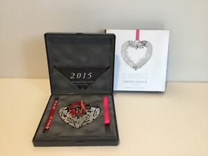 Georg Jensen Collectibles. 2015 Christmas Mobile-Heart Unites with Mistletoe#323