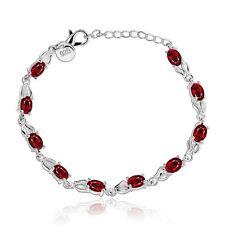 Red Zircon Bracelet Fashion Women Bangle Jewelry Crystal Charm Rhinestone