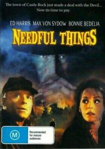 Stephen King's NEEDFUL THINGS DVD 1993 NEW Region 4 Max von Sydow Ed Harris RARE