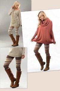 Knit Striped Sweater Leggings