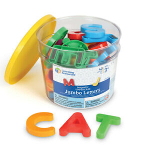 Learning Resources Jumbo Magnetic Letters and Numbers, Uppercase Letters