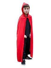 Red Hooded Kids Cape Halloween Fancy Dress Fairytale Riding Hood Child Costume