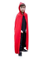 ROSSO CON CAPPUCCIO Kids MANTELLO HALLOWEEN FANCY DRESS FAVOLA Riding Hood Costume da bambino