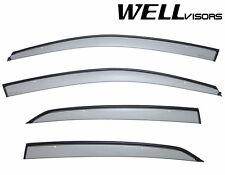 WellVisors Side Window Visors W/ Black Trim For 06-10 Volkswagen Jetta Sedan