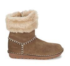 Clarks Greeta Ace Hazelnut Girl Youth US Size 3 Leather Boots Shoes