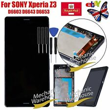 Assembly For Sony Xperia Z3 D6603 Display LCD Touch Screen Digitizer Frame Black