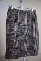 Kasper Wool & Acrylic Blend Multi-Colored Knee Length Lined Pencil Skirt Size 8