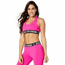 Zumba Never Stop Dancing Scoop Bra - Shocking Pink ~ Small, Medium, Large, XXL