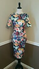 NWT $115 Paper Dolls Floral Bodycon Dress US 4 Photorealistic Modcloth Asos UK 8