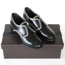 ALAIA $1,595 black leather grommet Azzedine ALAÏA oxford lace-up shoes 38 NEW